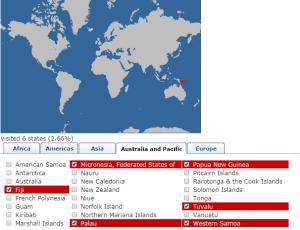 Oceania - Free visa or VOA